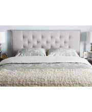 Baxton Studio Windsor Modern and Contemporary Greyish Beige Fabric Upholstered Full Size Headboard