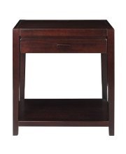 Notre Dame Nightstand with USB Port-Espresso