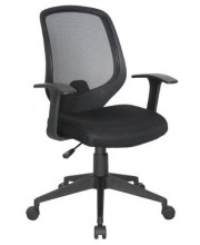 OFM Essentials Collection Mesh Swivel Task Chair with Arms, in Black (E1000)