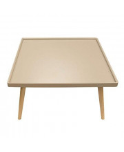 Diamond Sofa Square Cocktail Table with Taupe Tray Top