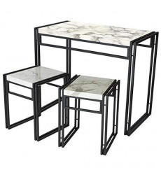 Atlantic Dining Table Set Marble