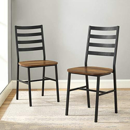 WE Furniture dining chairs, Set of 2, Reclaimed Barnwood