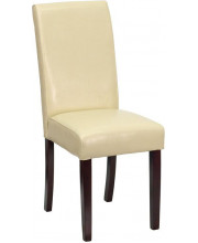 Ivory Leather Parsons Chair - BT-350-IVORY-050-GG