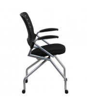 Galaxy Mobile Nesting Chair with Arms and Black Fabric Seat - WL-A224V-A-GG