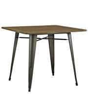 """Alacrity 36"""" Square Wood Dining Table - Brown"""