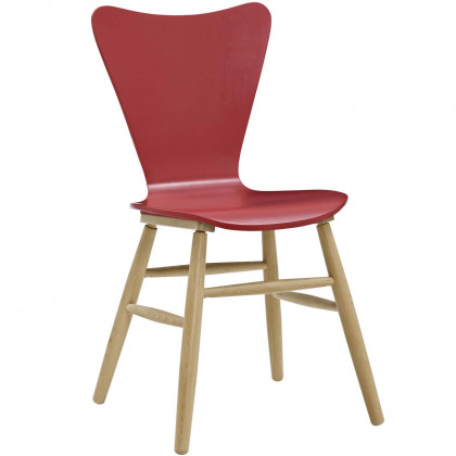 Cascade Wood Dining Chair - Red