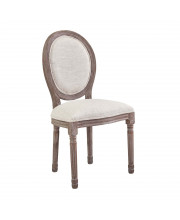 Emanate Vintage French Upholstered Fabric Dining Side Chair - Beige