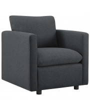 Activate Upholstered Fabric Armchair - Gray
