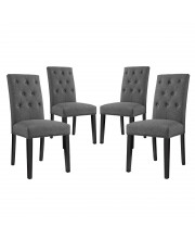 Confer Dining Side Chair Fabric Set of 4 - Gray