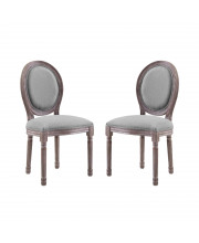 Emanate Dining Side Chair Upholstered Fabric Set of 2 - Light Gray