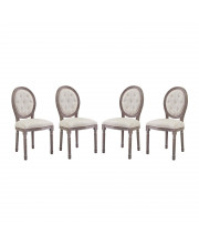 Arise Dining Side Chair Upholstered Fabric Set of 4 - Beige