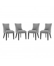 Marquis Dining Chair Fabric Set of 4 - Light Gray