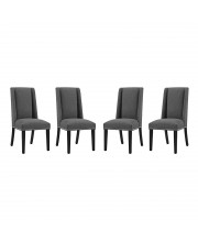 Baron Dining Chair Fabric Set of 4 - Gray