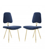 Ponder Dining Side Chair Set of 2 - Navy