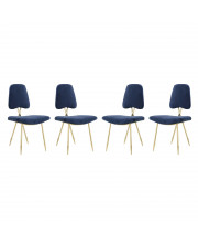 Ponder Dining Side Chair Set of 4 - Navy