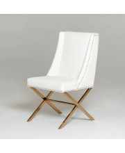Modern White & Rosegold Dining Chair