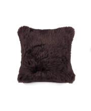 "100% Sheepskin Pillow 18""X18"" Chocolate"