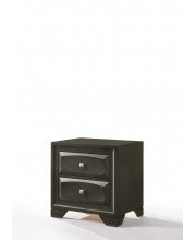 Nightstand In Antique Gray - Rubber Wood, Tropical Wood, Mdf, Chipboard, Plywood