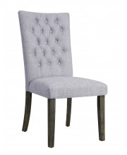 Side Chair - Set Of 2 In Gray Fabric And Gray Oak - Wood, Fabric, Foam