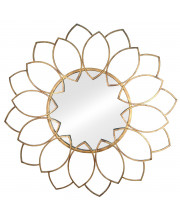 Wall Mirror Solid Metal With A Distressed Antique Bronze Finish