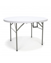 """Essentials by OFM ESS-5048RF 48"""" Round Center-Folding Utility Table, White"""