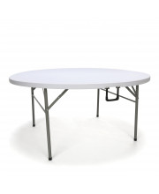 """Essentials by OFM ESS-5060RF 60"""" Round Center-Folding Utility Table, White"""