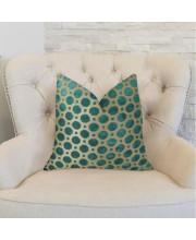 "Plutus Velvet Turquoise Handmade Throw Pillow, (Double sided 16"" x 16"")"
