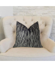 """Plutus Wolf Fur Handmade Throw Pillow, (Double sided 20"""" x 30"""" Queen)"""