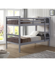 Twin over Twin Solid Wood Mission Design Bunk Bed - Grey