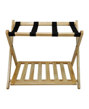 Luggage Rack with Shelf-Natural